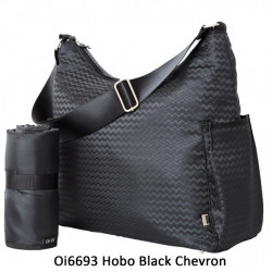 BOLSO HOBO BLACK CHEVRON OIOI